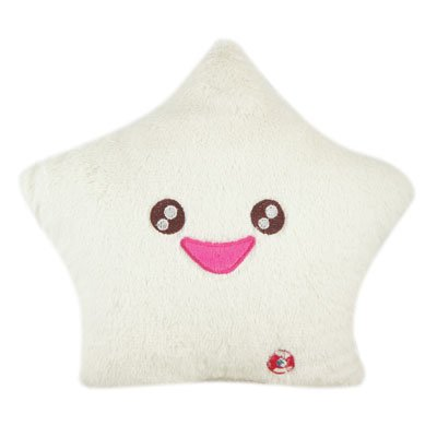 Amico-Smile-Star-Design-Color-Changing-LED-Light-Toss-Thrown-Pillow-White-0