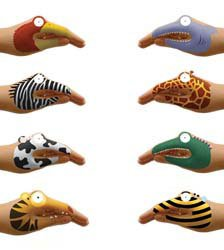 NPW-Animal-Hands-Temporary-Tattoos-For-Talking-Hands-0