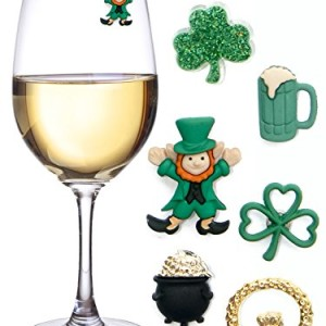 St-Patricks-Day-Magnetic-Drink-Markers-Wine-Charms-for-Stemless-Glasses-Beer-Mugs-or-Pints-Fun-for-a-Party-Even-use-as-Favors-Set-of-6-0